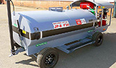 A 600 gallon HandiFueler Ground Support Fuel Service Cart (AGE Refueler) from the front.