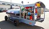 A 600 gallon HandiFueler Ground Support Fuel Service Cart (AGE Refueler) from the left side.
