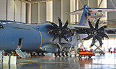 The SealVac fuel bowser with the Airbus A400M in Seville, Spain