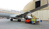 Saudi Arabian Airlines maintainers training on the Sealvac fuel bowser